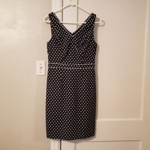 Sleeveless Navy Blue w/ light blue polka dot dress